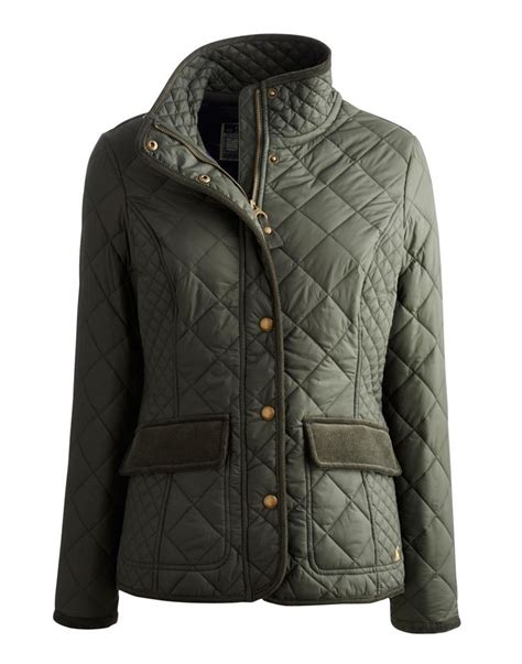 Womens Green Quilted Jacket by Joules Womens Quilted Jacket Everglade Green This
