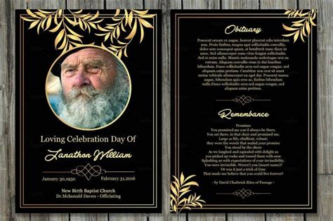 11 Funeral Memorial Card Designs Templates Psd Ai Indesign Ms Word Free Premium Memorial Cards For Funeral Template