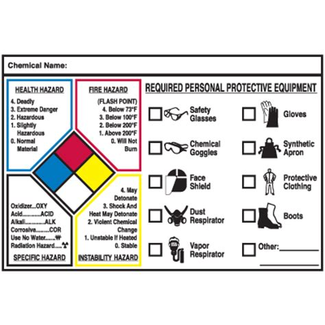 printable hazard label nfpa hazard diamond printable pictures