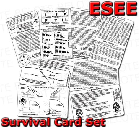 survival cards esee izula gear survival card set 4 cards surv card ebay