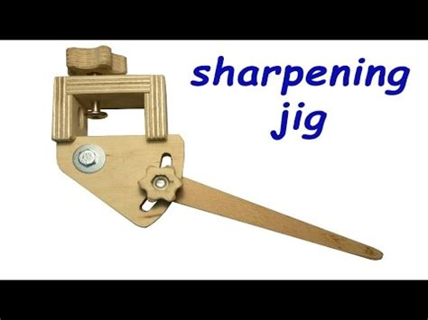 homemade sharpening jig  woodturning tools  plans