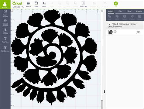 Carnation Paper Flower - rolled paper carnation tutorial free svg files