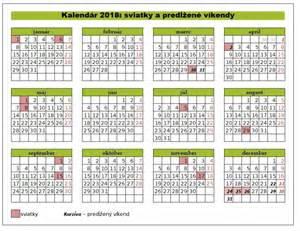 Kalendar 2018 Slovensko Sviatky A Predĺžen 233 V 237 Kendy 2018 Finance Sk