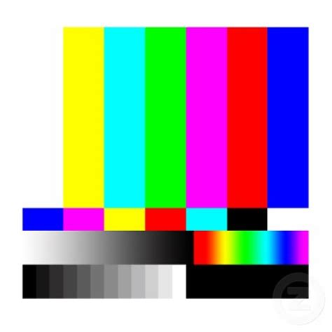 color test pattern tv this is real life