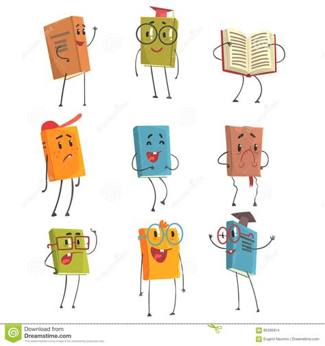 types of picture books humanized book emoji characters representing