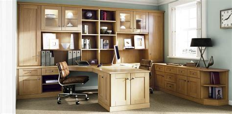 Home Office Fitted Furniture Custom Fitted Oak Classic Home Office Strachan