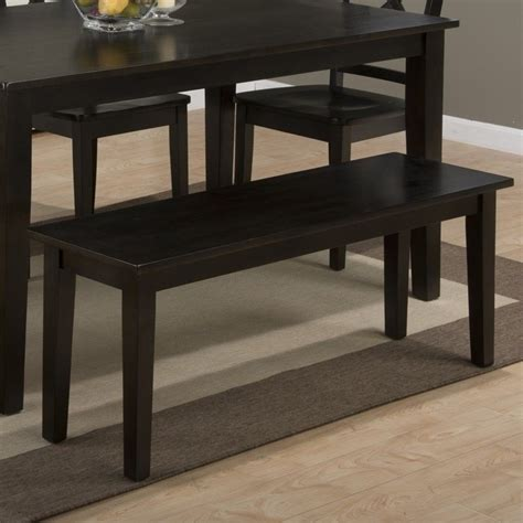 espresso dining bench jofran simplicity wood dining bench in espresso 552 14kd