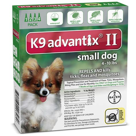 k9 advantix puppy k9 advantix ii 4 month green small for dogs up to 10 lbs