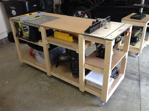 table saw bench plans budget mobile workstation by miketw lumberjocks com