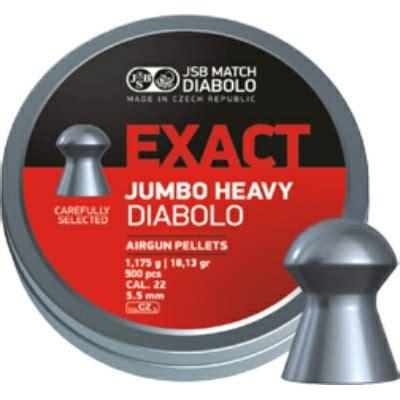 Jsb Exact Jumbo Heavy 22 jsb exact jumbo heavy 22 cal pellets 18 13 grains