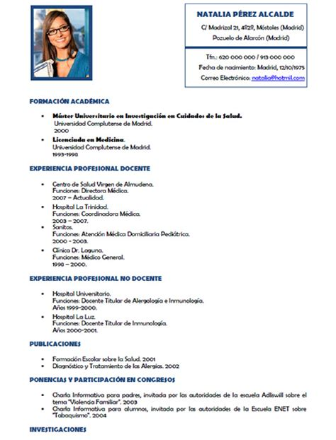 Modelo Curriculum Vitae Medico En Ingles Curriculum Vitae Medico Curriculum Vitae