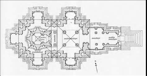 hindu temple floor plan always in studio tselentis arch kandariya mahadeva