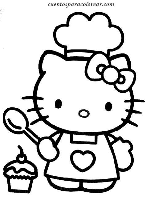 imagenes infantiles para pintar dibujos para colorear kitty
