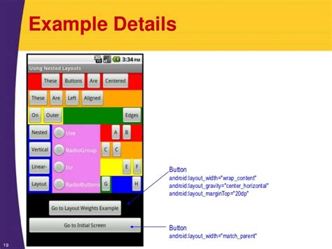 layout margintop android tutorial layouts organizing the screen