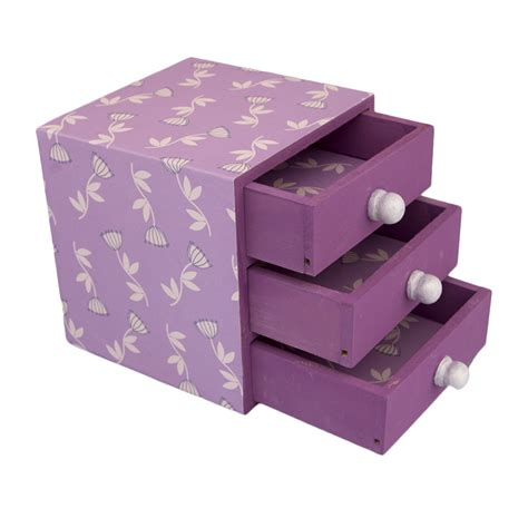 decorative handmade trinket box lilac from stylish gifts
