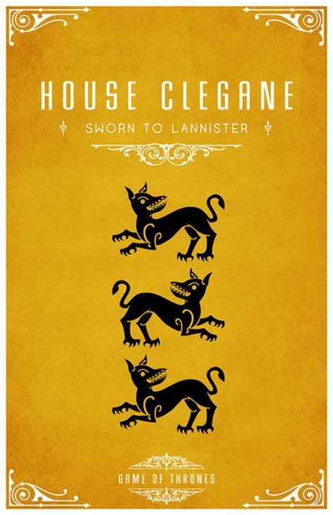 house clegane 20 game of thrones house mottos and sigils hative