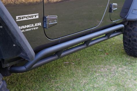 Jeep Jk Rock Sliders Jeep Jk Wrangler 4 Door Rock Sliders Gusset Steel