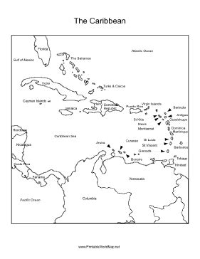 haiti map coloring page caribbean sea region labeled with the names of each