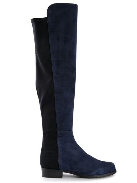 stuart weitzman shoes stuart weitzman 5050 boots in blue lyst
