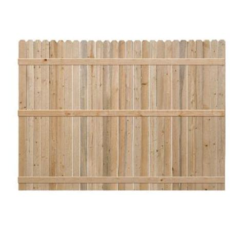 6 ft h x 8 ft w pine ear fence panel 7643 the home