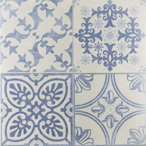 Blue Pattern Wall Tiles | skyros delft blue wall and floor tile wall tiles from