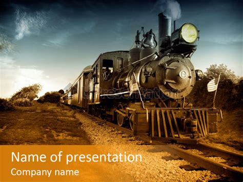 steam train powerpoint template id 0000010129