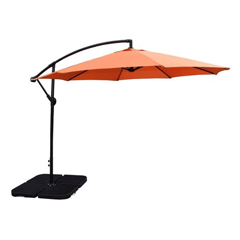 10 Foot Patio Umbrella Oakland Living Mississippi 10 Ft Tiltable Cantilever Patio Umbrella In Green 4110 Gn The Home