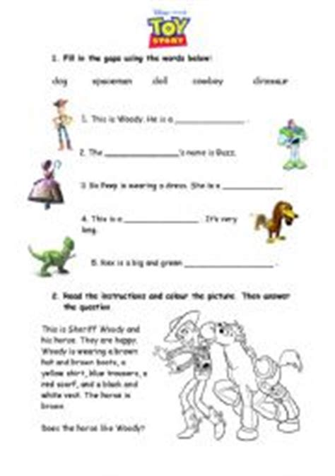 toy story printable activity sheets english teaching worksheets toy story