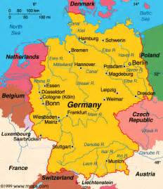 europe germany map living travel germany