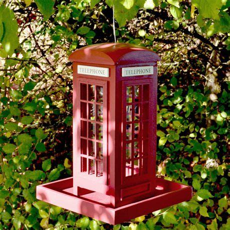 telephone box bird feeder can you tell i m
