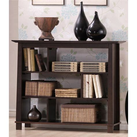 baxton studio lindo bookcase lavish home 3 shelf light wood bookcase in brown 83 11 3