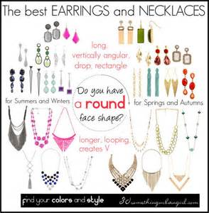 The best earrings and necklaces for round face shape by