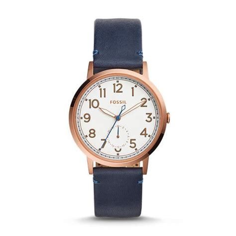 Fossil Me3131 Vintage Muse Automatic Iron Leather everyday muse multifunction indigo dyed leather muse chronograph and fossil