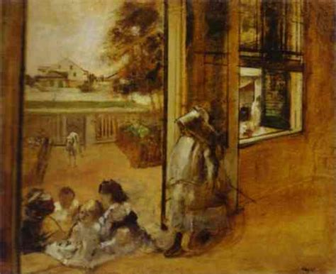 famous house painters courtyard of a house in new orleans edgar degas painting