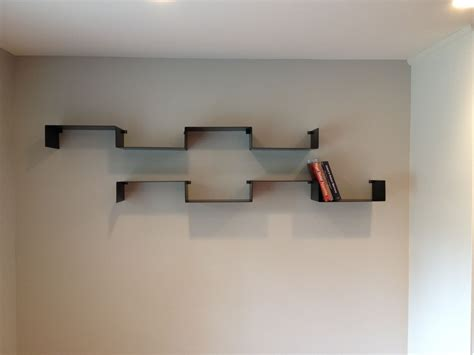 custom built floating shelves crafted floating folded steel shelves by object a