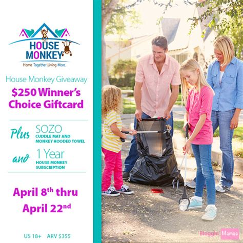 Monkey Giveaway - house monkey giveaway ends 4 22 16 355 arv bloggin mamas