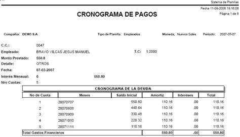 cronograma de pago de los programas del ministerio de trabajo sistema de planillas sba f 225 cil de usar configurable