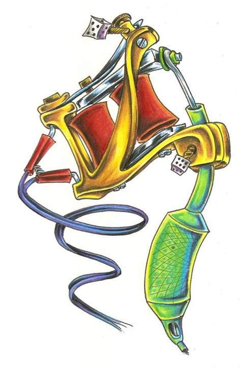machine gun tattoo designs machine drawing s 248 k pinteres
