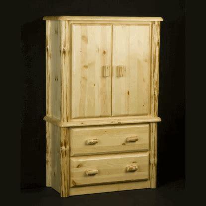 log armoire viking wilderness pine log armoire