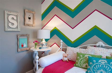 chevron bedrooms 21 creative accent wall ideas for trendy kids bedrooms