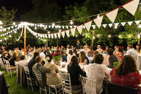 Wedding in Italy   Dinner outside   Fairy lights   Italian