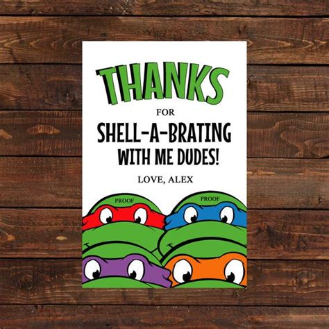 mutant turtles birthday card template mutant turtle thank you card by