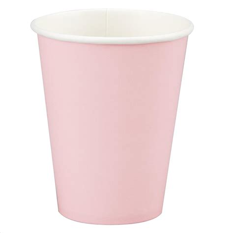 1 cup of floor to oz pink paper cups 12oz