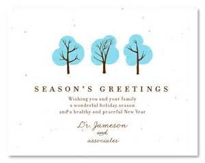 happy holidays messages business plantable business cards doctor s wishes by