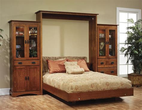 murphy wall bed amish murphy bed dutchcrafters bedroom furniture