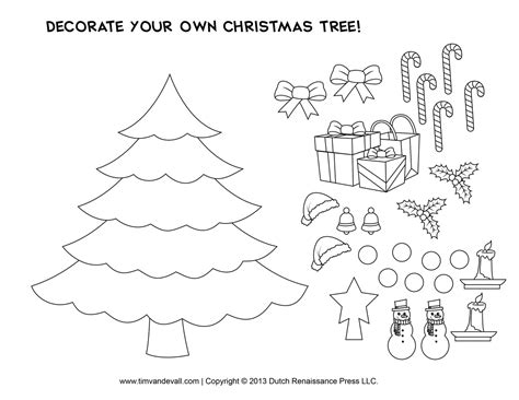 printable paper christmas tree template and clip art