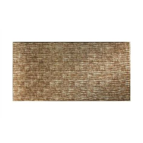 Decorative Wall Panels Home Depot Fasade Dunes Horizontal 96 In X 48 In Decorative Wall Panel In Bermuda Bronze S71 17 The