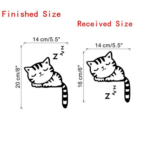 Wallpaper Stiker Dinding 2 sticker wallpaper dinding sleeping cat black