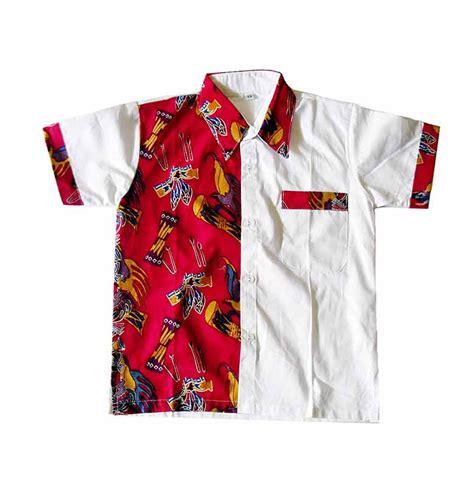 jual mayura batik lucky merah kemeja batik anak laki laki