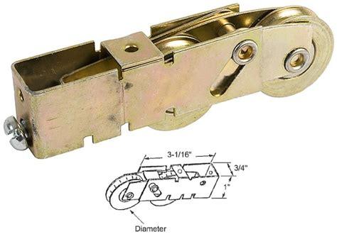 Patio Sliding Door Rollers Sliding Glass Patio Door 1 1 4 Quot Tandem Steel Bearing Roller With 3 4 Quot Wide Housing For